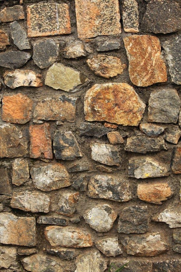Planlagt med textur för stenvägg fotografering för bildbyråer