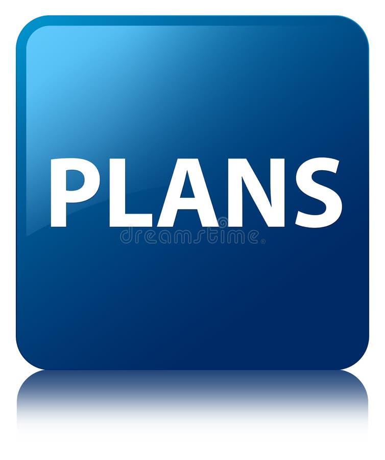 Plannen blauwe vierkante knoop vector illustratie