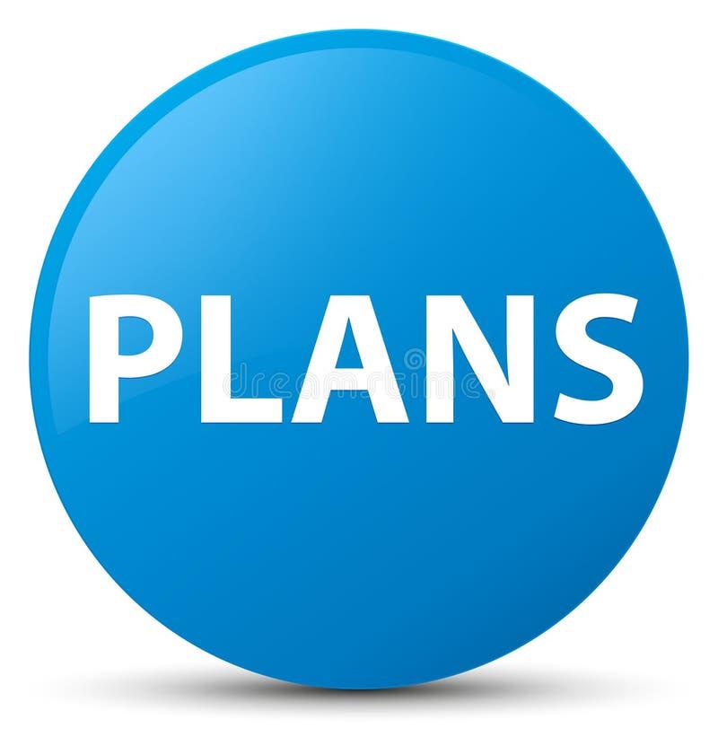 Plannen cyaan blauwe ronde knoop royalty-vrije illustratie