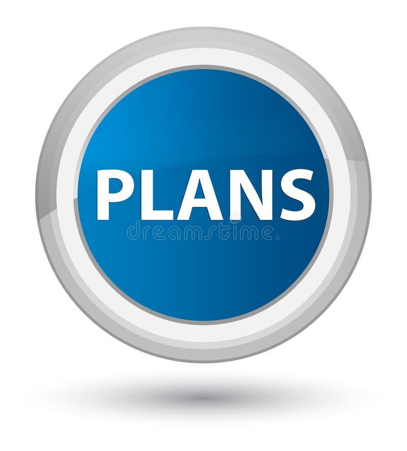 Plannen eerste blauwe ronde knoop royalty-vrije illustratie