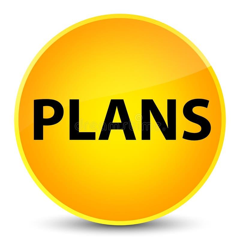 Plannen elegante gele ronde knoop stock illustratie