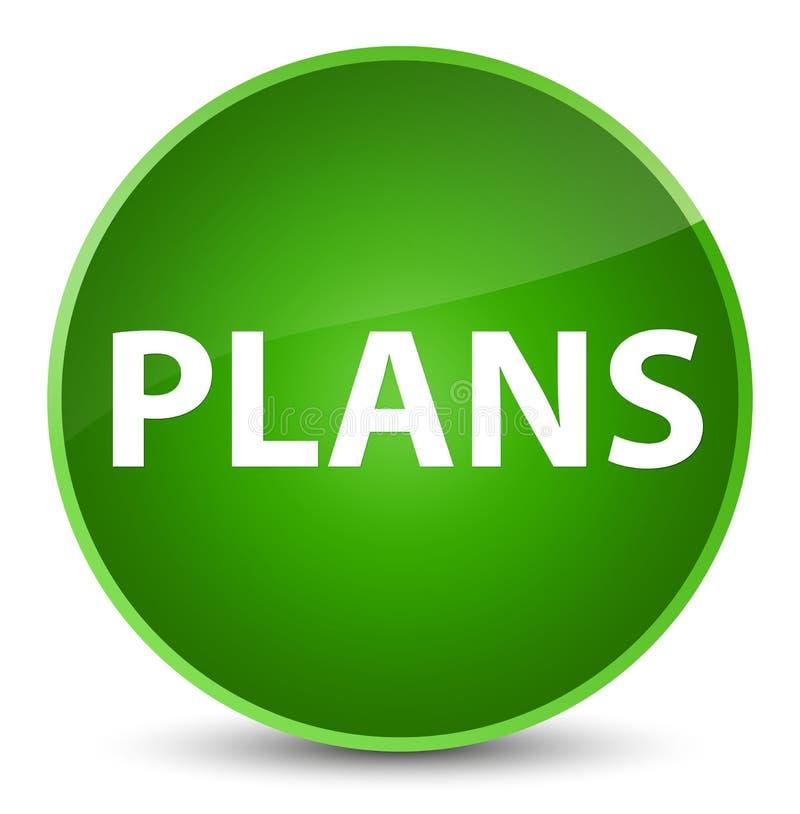 Plannen elegante groene ronde knoop royalty-vrije illustratie