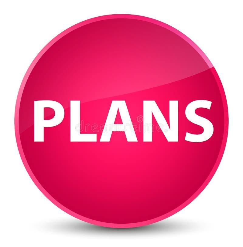 Plannen elegante roze ronde knoop royalty-vrije illustratie