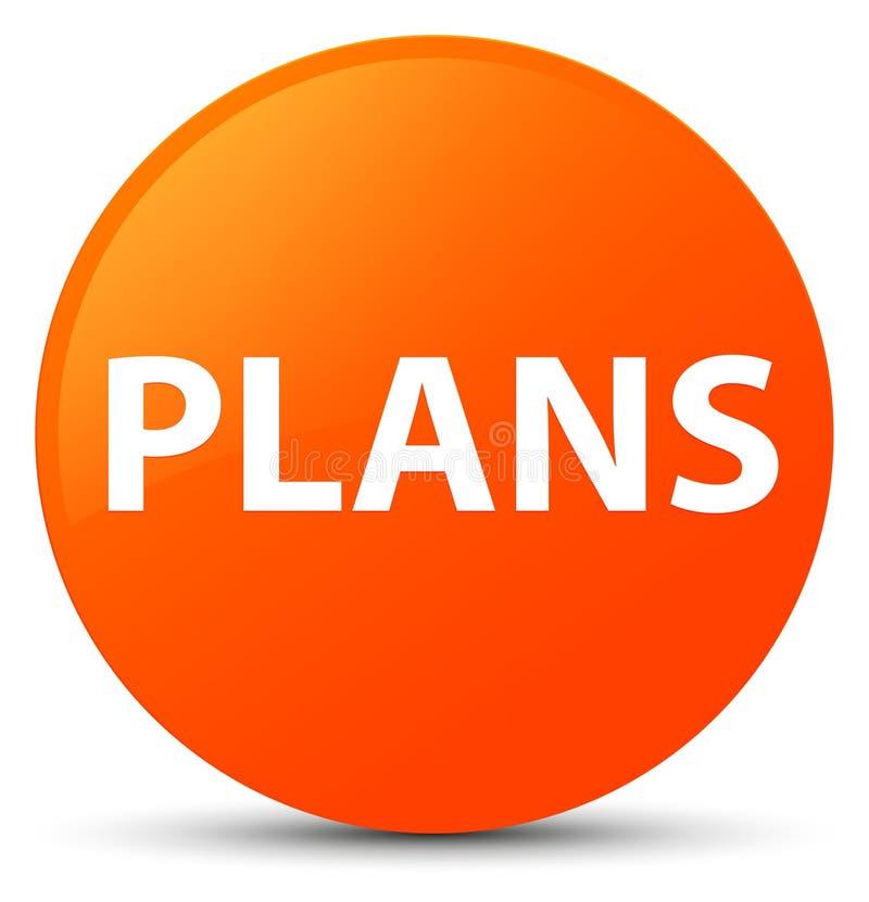 Plannen oranje ronde knoop vector illustratie