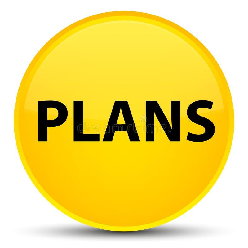 Plannen speciale gele ronde knoop stock illustratie