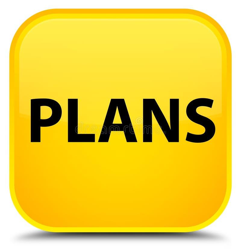 Plannen speciale gele vierkante knoop stock illustratie