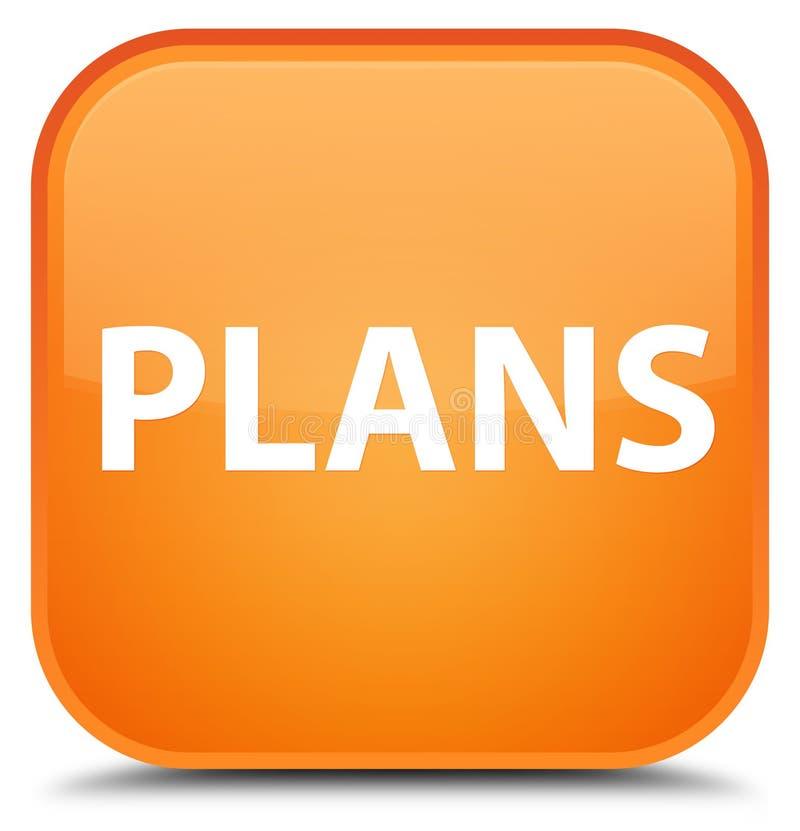 Plannen speciale oranje vierkante knoop stock illustratie