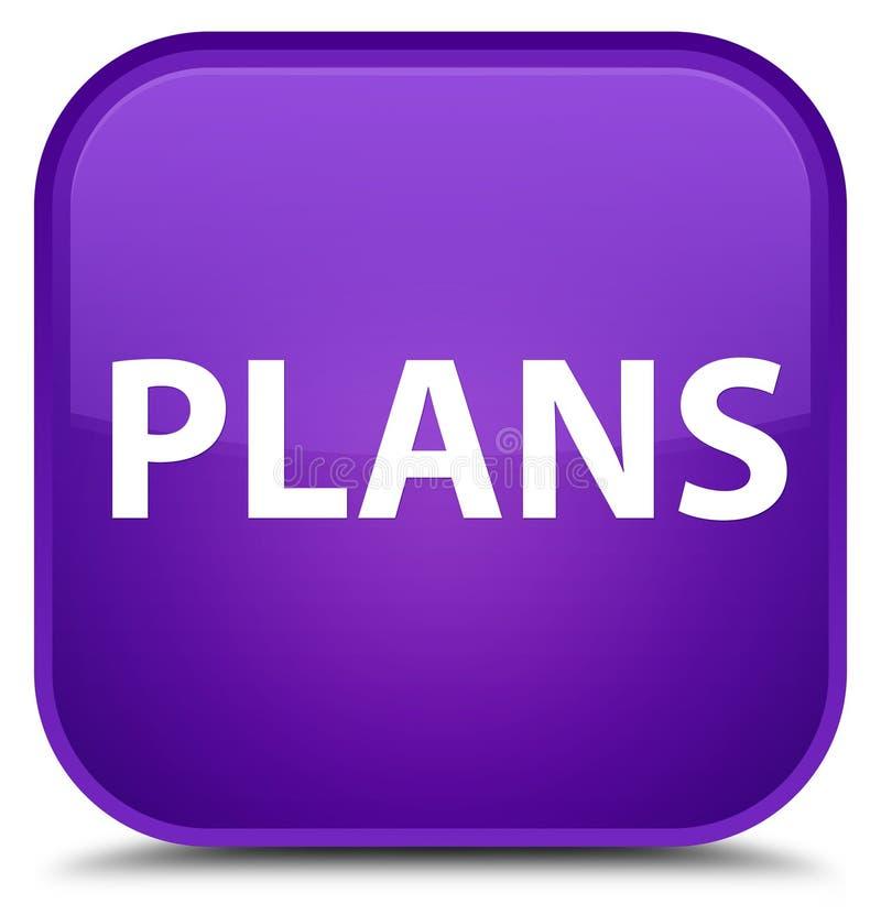 Plannen speciale purpere vierkante knoop vector illustratie
