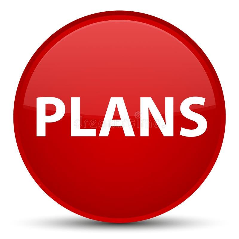 Plannen speciale rode ronde knoop royalty-vrije illustratie