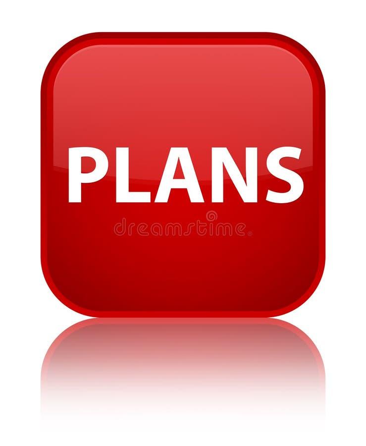 Plannen speciale rode vierkante knoop royalty-vrije illustratie
