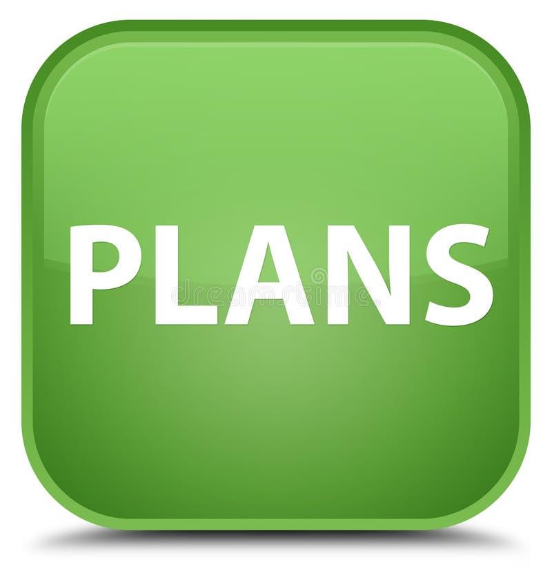 Plannen speciale zachte groene vierkante knoop stock illustratie