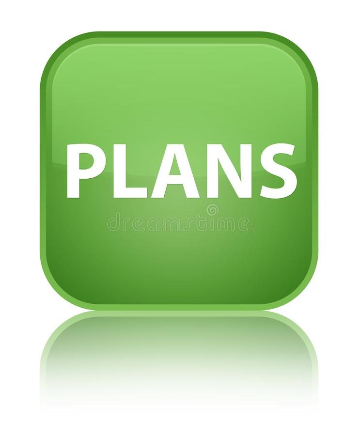 Plannen speciale zachte groene vierkante knoop vector illustratie