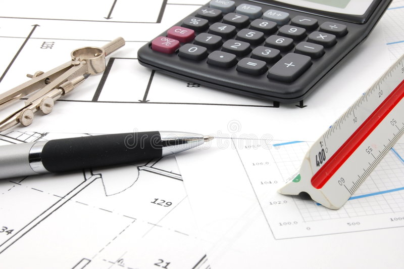 Plannen voor architectuur stock fotografie