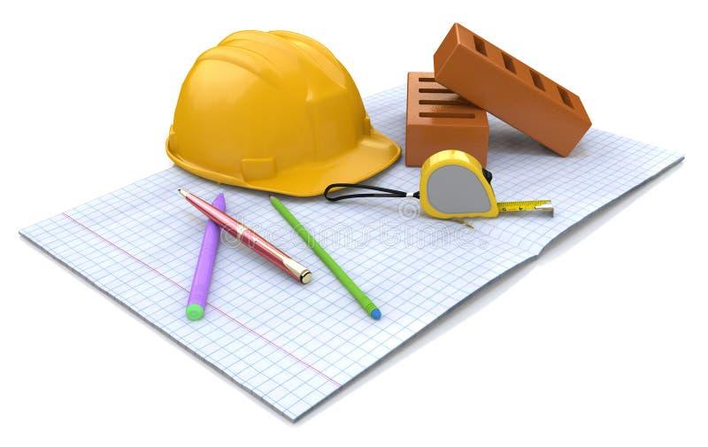 Plannen voor bouw stock illustratie
