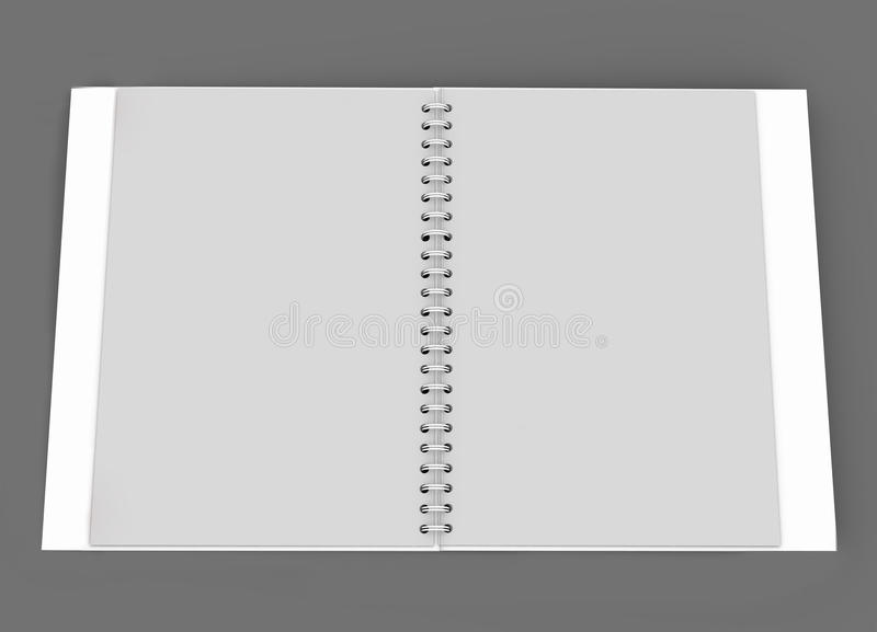 Daily planner. White daily planner, blank or calendar royalty free illustration