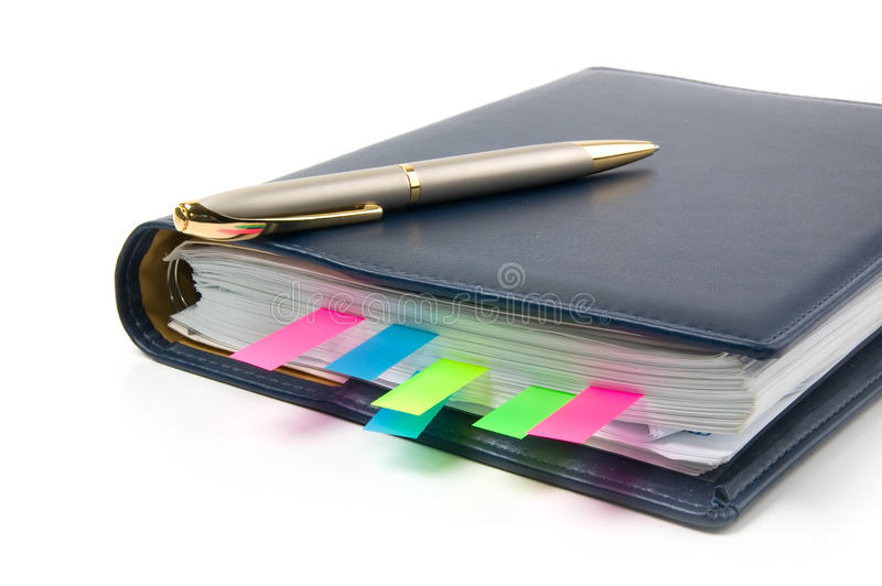Daily planner stock image