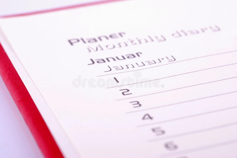 Download Planner stock photo. Image of agenda, january, first - 21520546