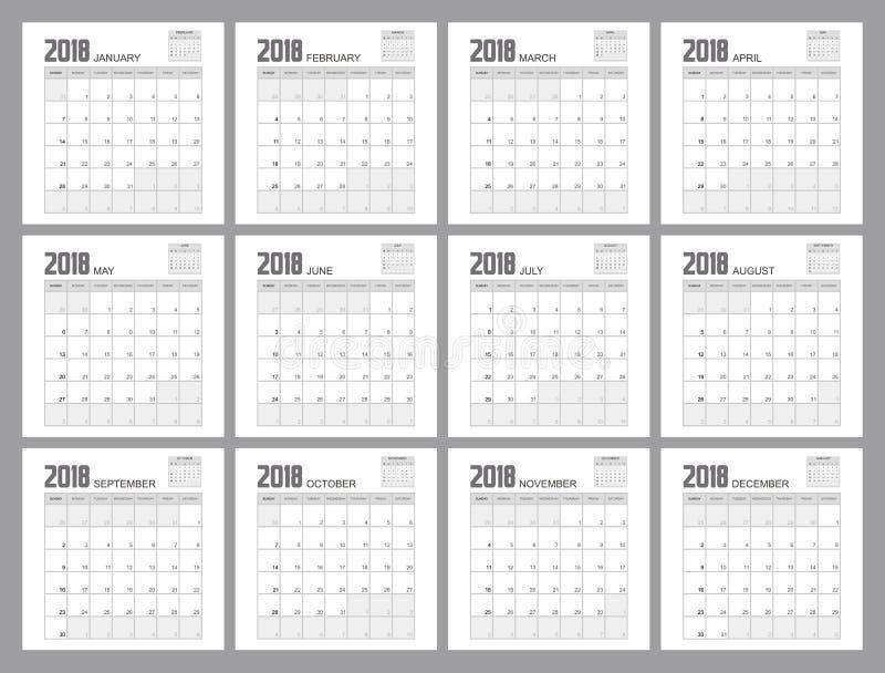 Calendar Design Illustrator : Planner design stock illustration image