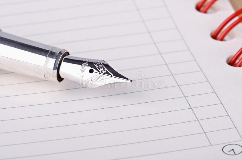 Download Daily planner with pen stock image. Image of pencil, handle - 17884237