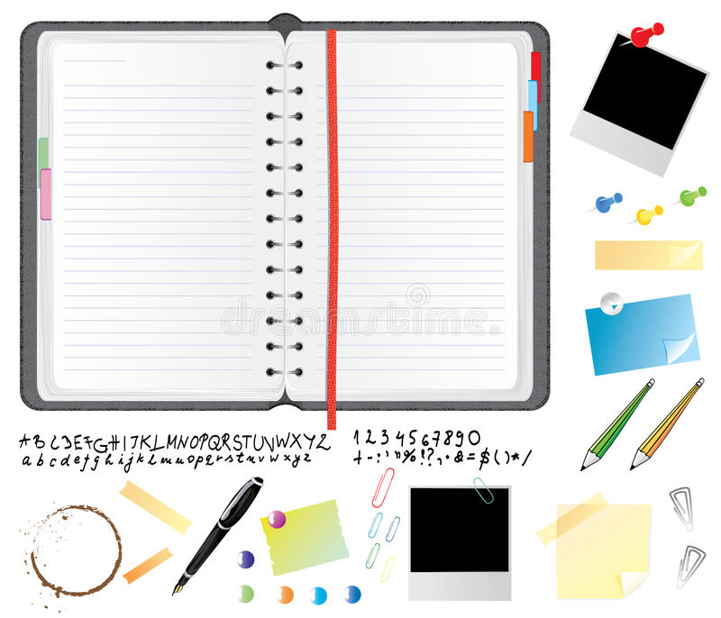 Download Daily planner set stock vector. Image of binder, isolated - 9699858