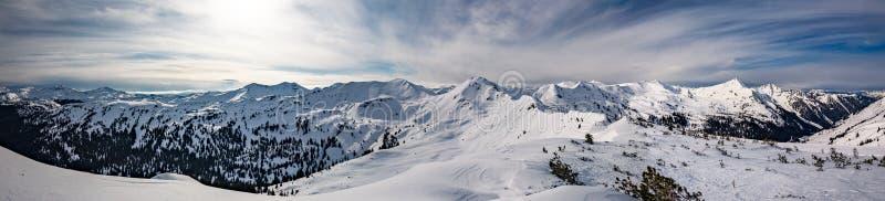 Planneralm skiing resort in winter,  Austrian Alps. Snowy peaks, Planneralm skiing resort in winter, Austrian Alps stock photography