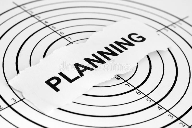 Planning. Close up of planning target concept stock photography