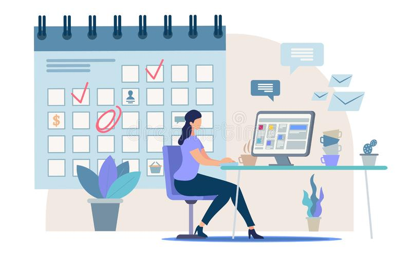 Planning Business Tasks for Month Vector Concept stock illustration