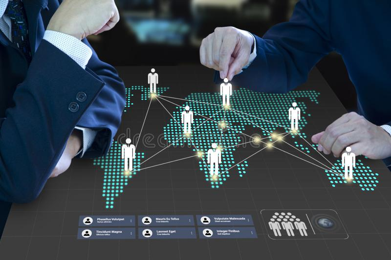 Planning of a business teamwork and expansion stock photos