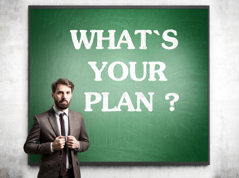 Planning concept blackboard royalty free stock photos