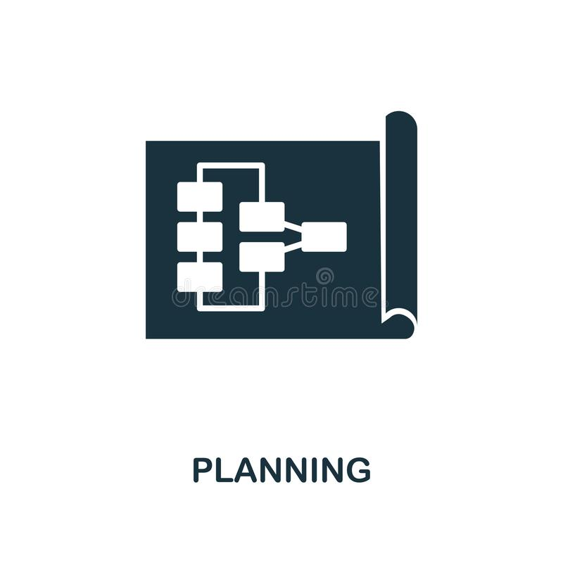Planning creative icon. Simple element illustration. Planning concept symbol design from soft skills collection. Perfect for web d royalty free illustration