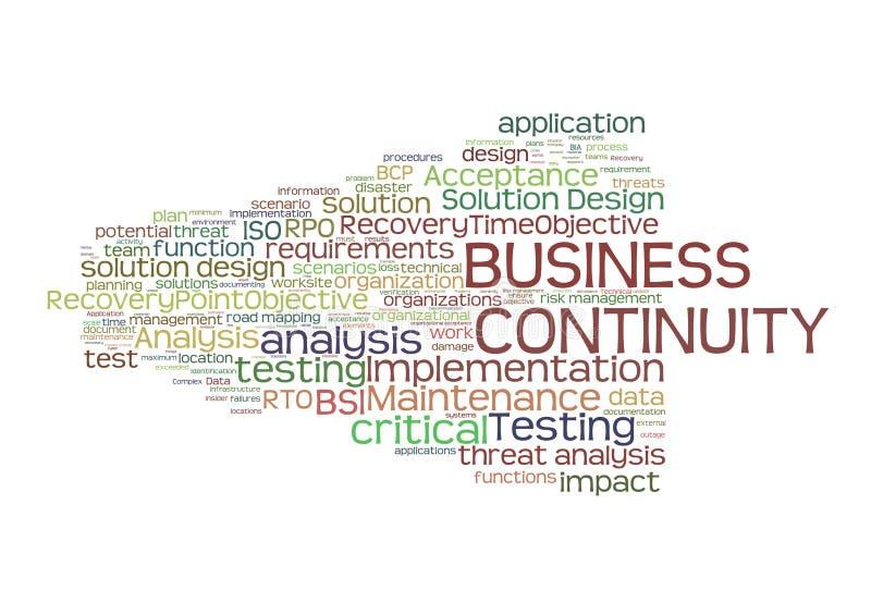 Planning de bedrijfs van de Continuïteit stock illustratie