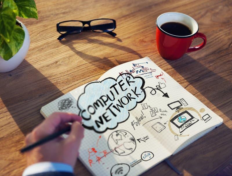 Planning en Bespreking van Computernetwerk royalty-vrije stock foto's