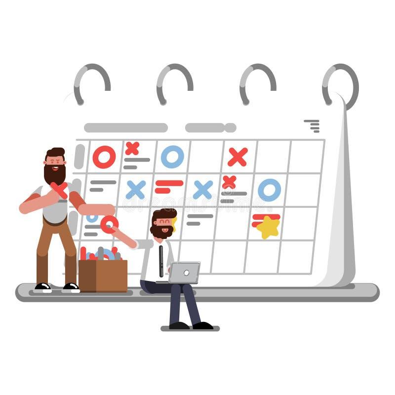 Planning en organisatie helpers vector illustratie