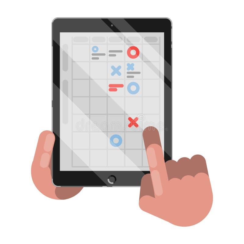 Planning en organisatie op tablet vector illustratie