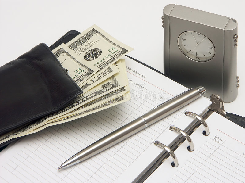 Planning expenditures stock image