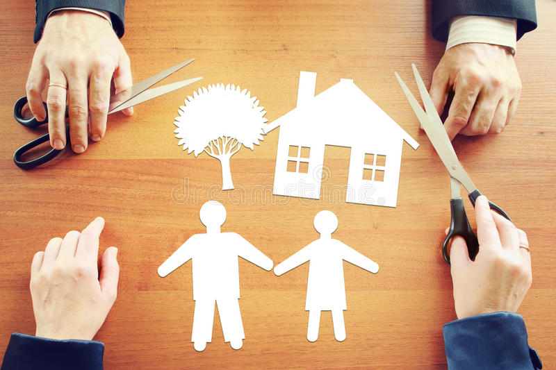 Planning of happy family life. Abstract conceptual image stock photography