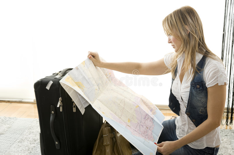 Download Planning my trip stock image. Image of holiday, happy - 8936933