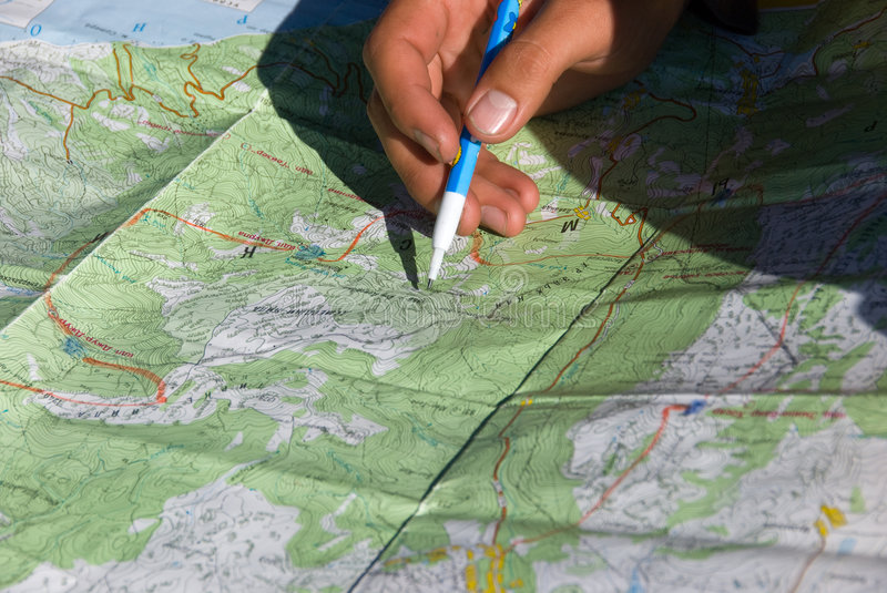 Download Planning path stock image. Image of hand, travel, road - 7017575