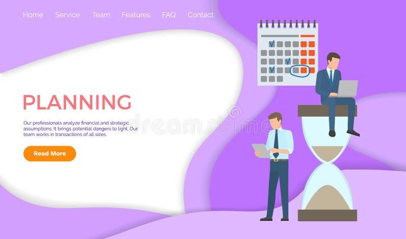 Planning Professional Analysis Financial Strategic vector illustration