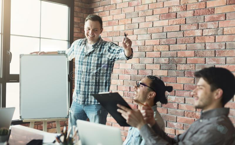 Planning, risk and strategy of project management in business stock image