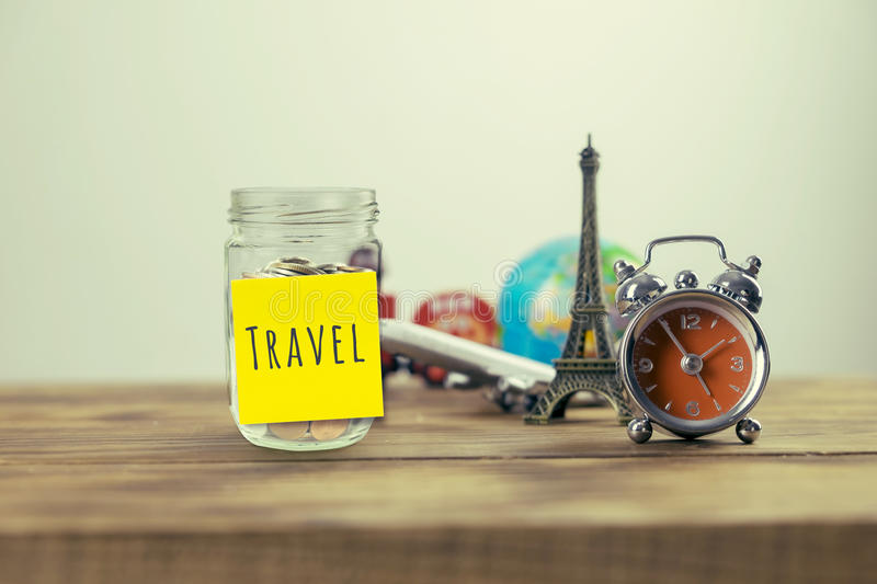 Planning summer vacation royalty free stock photo