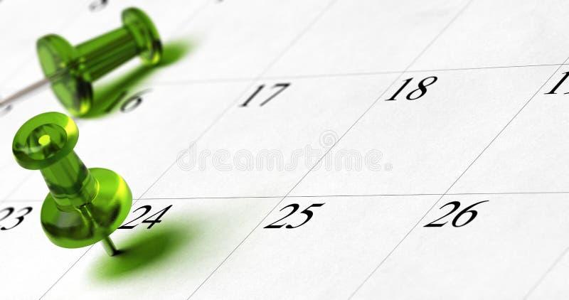 Planning, tijdbeheer royalty-vrije illustratie