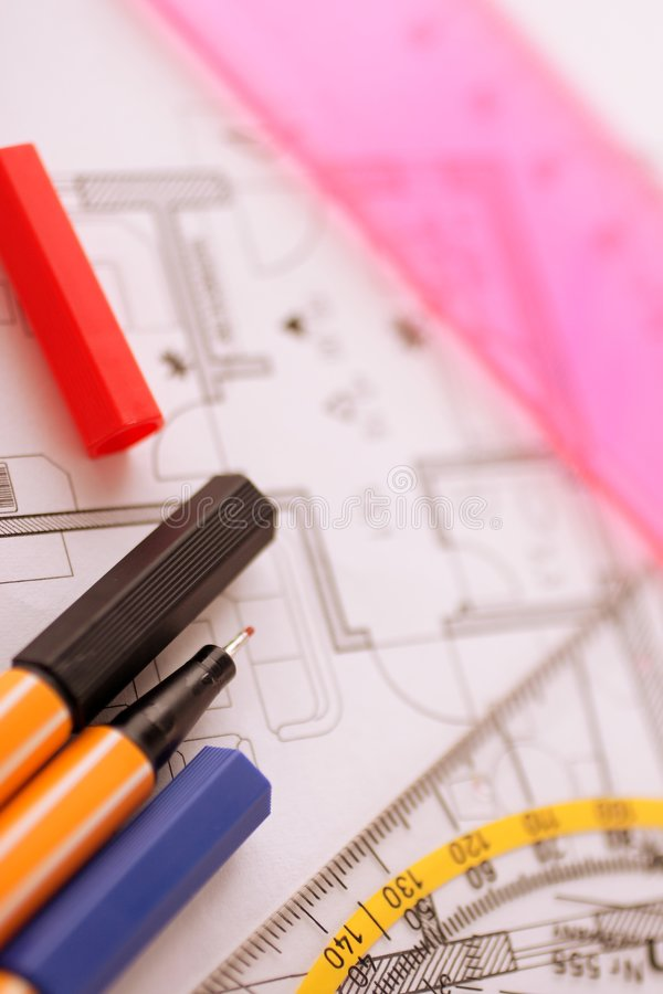 Planning tool stock photo