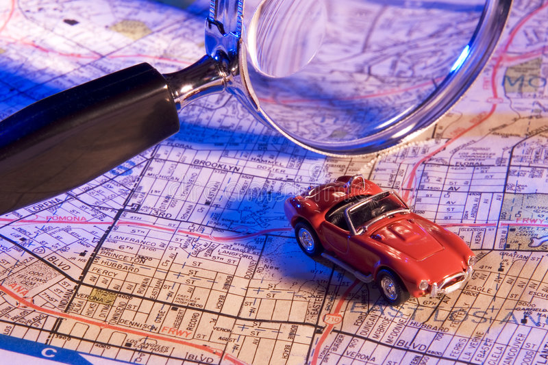 Planning a trip stock image