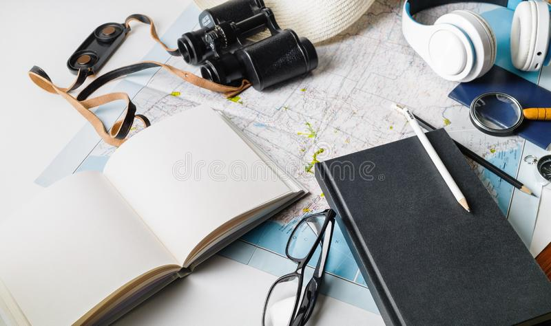 Planning vacation trip royalty free stock photography