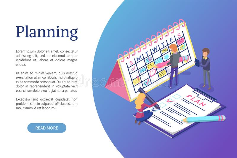 Planning van Programma, het Werk Takenoptimalisering stock illustratie