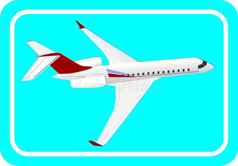 Download Plano ilustração do vetor. Ilustração de stewardess, transporte - 12810792