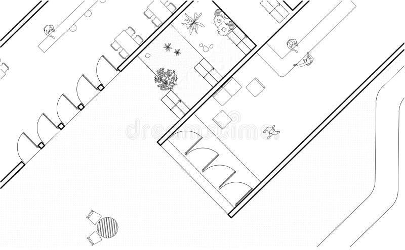Plano arquitectónico foto de stock royalty free