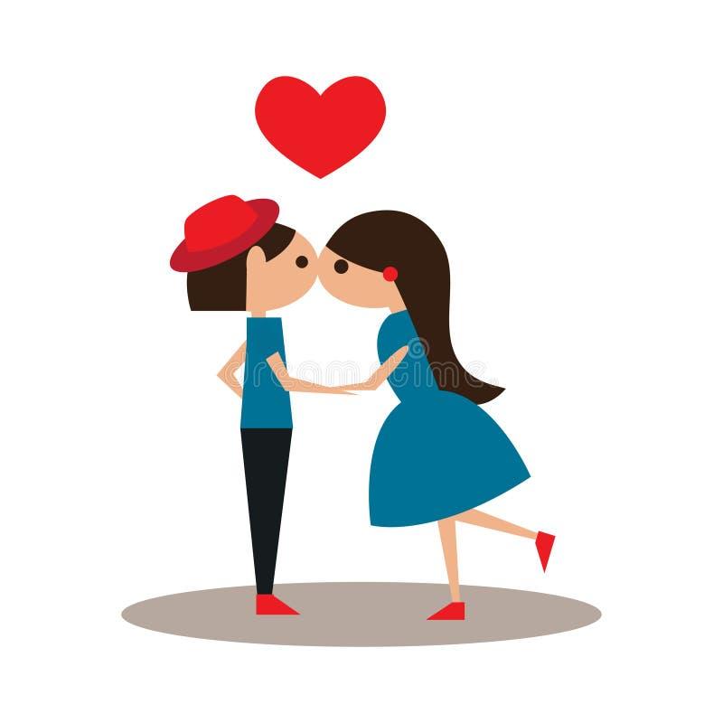 Plano com ícone da sombra e beijo móvel da aplicação ilustração stock