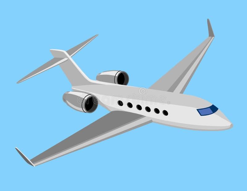 Plano comercial ligero ilustración del vector